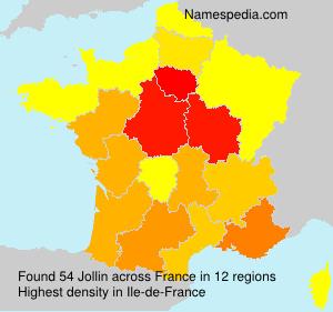 Surname Jollin in France