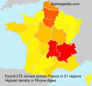 Surname Jonard in France