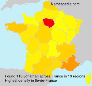 Familiennamen Jonathan - France