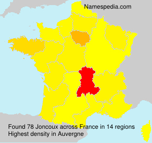 Surname Joncoux in France