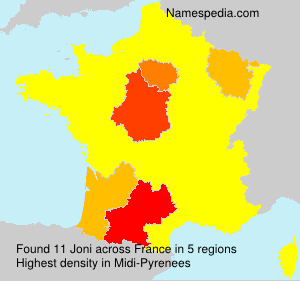 Surname Joni in France