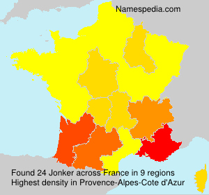 Surname Jonker in France