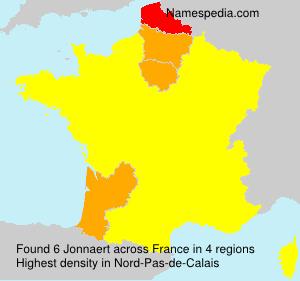 Familiennamen Jonnaert - France