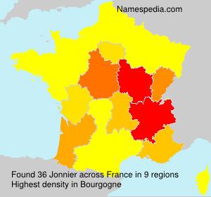 Surname Jonnier in France