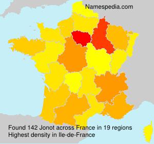 Surname Jonot in France