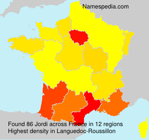 Surname Jordi in France