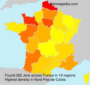 Familiennamen Jore - France