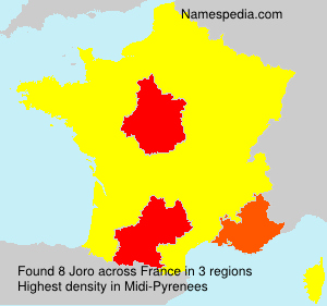 Surname Joro in France