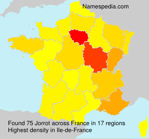 Surname Jorrot in France