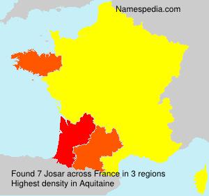 Familiennamen Josar - France