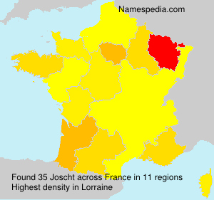 Surname Joscht in France