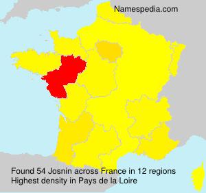 Familiennamen Josnin - France