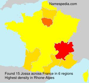 Surname Jossa in France