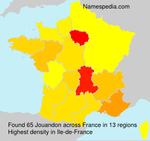 Surname Jouandon in France