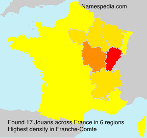 Surname Jouans in France