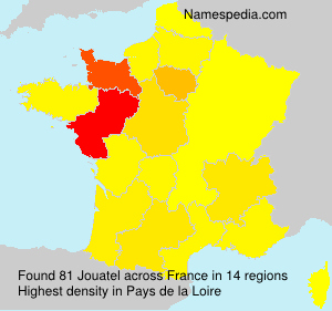 Surname Jouatel in France
