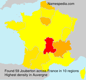 Surname Jouberton in France