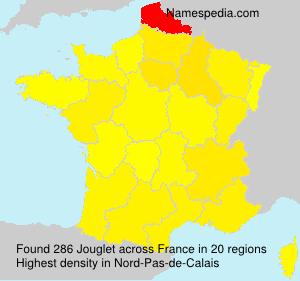 Surname Jouglet in France