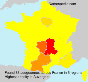 Surname Jougounoux in France