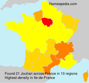 Surname Jouhari in France