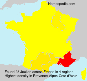 Surname Joulian in France