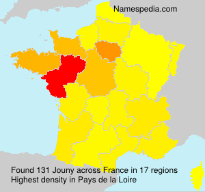 Surname Jouny in France