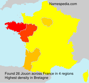 Surname Jouon in France
