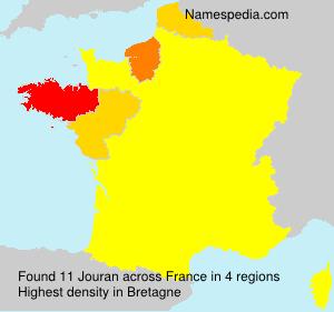 Surname Jouran in France
