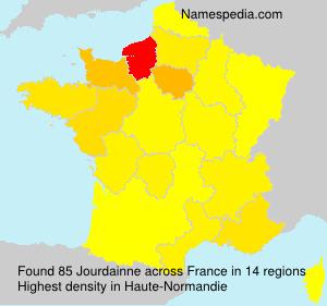 Surname Jourdainne in France