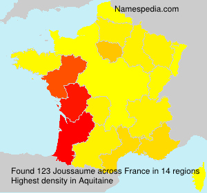 Surname Joussaume in France