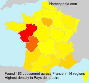 Surname Joussemet in France