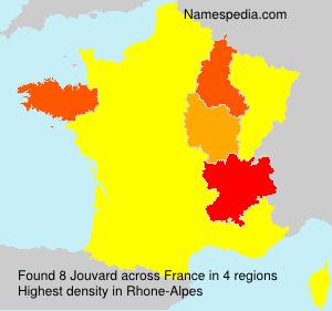Surname Jouvard in France