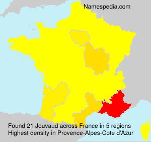 Surname Jouvaud in France