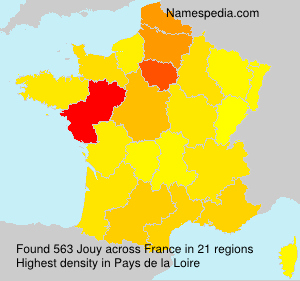 Surname Jouy in France