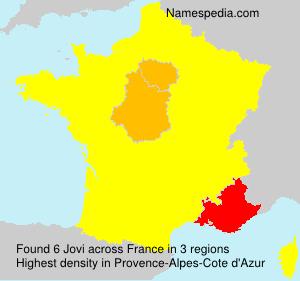 Surname Jovi in France