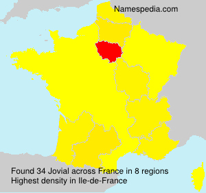 Surname Jovial in France