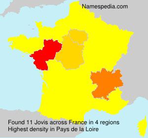 Surname Jovis in France