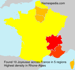 Surname Joyeusaz in France