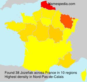 Surname Jozefiak in France