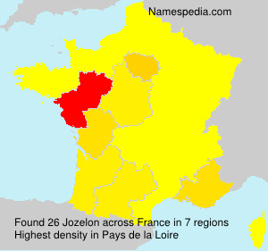 Surname Jozelon in France