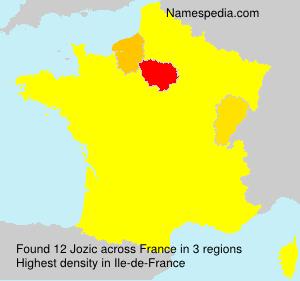 Surname Jozic in France