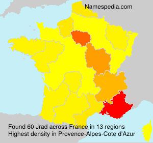 Surname Jrad in France