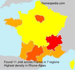 Surname Jridi in France