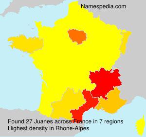 Surname Juanes in France