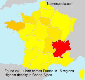 Surname Juban in France