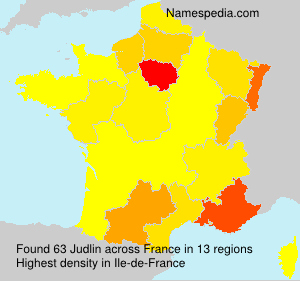 Surname Judlin in France