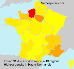 Surname Jue in France