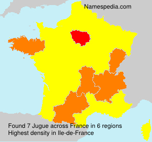 Surname Jugue in France