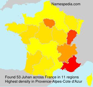 Surname Juhan in France