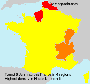 Surname Juhin in France